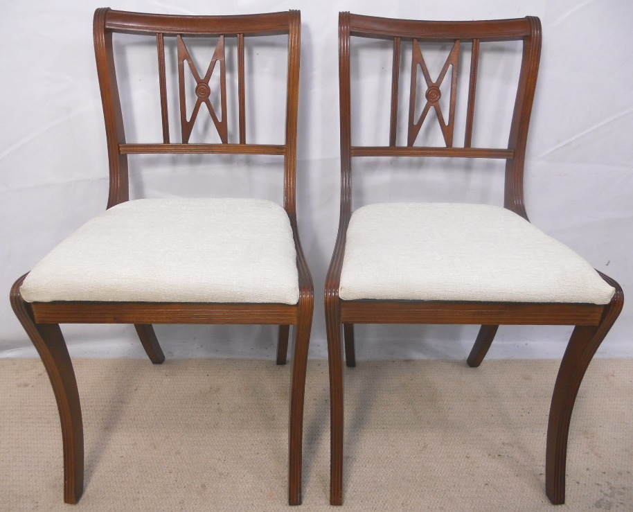Hicks Furniture Set of six mahogany dining chairs by beresford hicks sold sisterspd